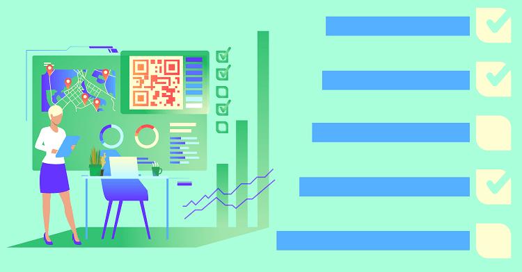 Aprenda a gerenciar a aplicação de checklist usando Check-in + QR Code