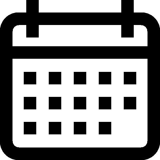 ícone data de postagem e atualização